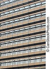 Office building facade - Facade detail of modern office...