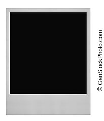 blank photo frame isolated on pure white background