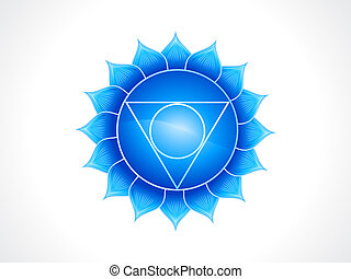 detailed throat chakra vector illustration
