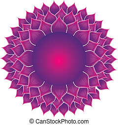 detailed crown chakra vector illustration
