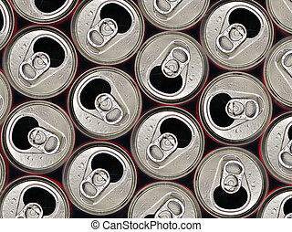 Soda can - Close up from open soda can with waterdrops