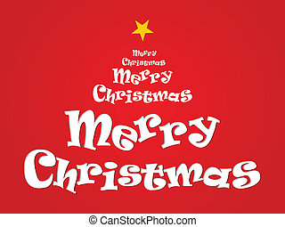 abstract merry christmas text vector illustration