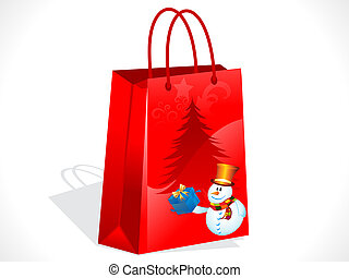 abstract christmas sale bag vector illustration