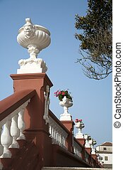 balustrade flowerpot - balustrade with flowerpots at icod...