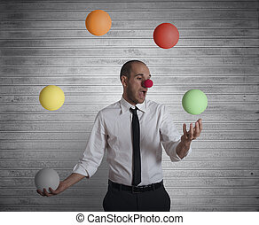 Juggler businessman - Concept easy business with juggler...