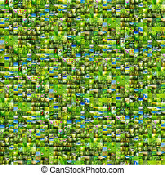 green background - Collage nature green background All image...