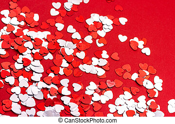 Heart background - Red Valentine background with hearts