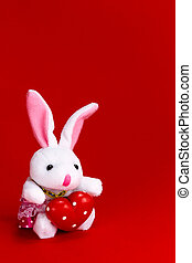 Rabbit with Valentine's heart