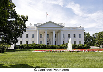 The White House - The American flag flies over the White...