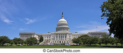 The US Capitol Building in Washington, DC on a sunny day...