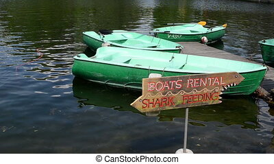 boat rent water ripple - Boat rent place on lake Boats on...