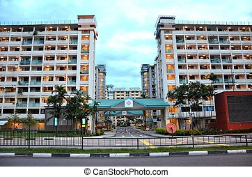Public housing in Singapore - A view of Singapore's Toa...