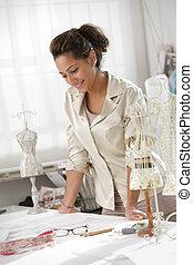 Female fashion designer - Attractive fashion designer...