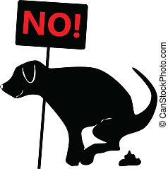 no dog excrements - vector illustration of dog for board