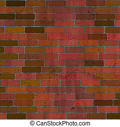 brick wall - red brick wall