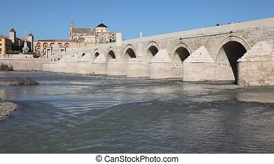 Roman bridge in Cordoba, Spain - Roman Bridge with the...