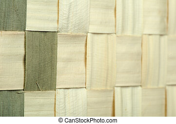 Background of bamboo strips - Background of plaited bamboo...