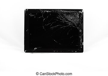 Cracked tablet - A harshly broken tablet