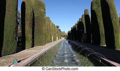 Alcazar gardens in Cordoba, Spain