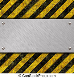 danger sign - metal warning sign