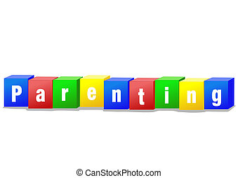 Parenting bricks - Parenting concept bricks illustration in...