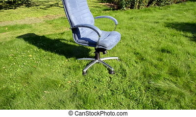 grass cut office chair