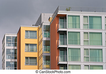 modern apartments - modern apartment buildings in the Media...