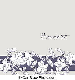 background magnolia flowers for card or invitation -...