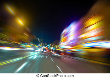 Columbus avenue motion blur - Motion blur of Columbus Avenue...