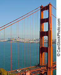 San Francisco Golden Gate Bridge - Golden Gate bridge detail...