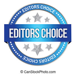 editors choice concept illustration design over a white...