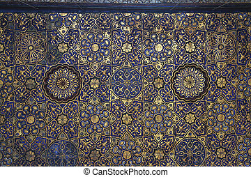 Mosque ceiling - Luxurious Mosque ceiling in gold and blue