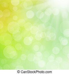 Abstract blur floral background with bubbles