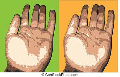 human hand vector