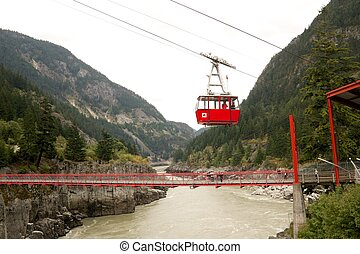 Hells Gate Cablecar - Cable car arriving at Hells Gate...