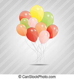 set of colored ballons, vector illustration EPS 10 - set of...