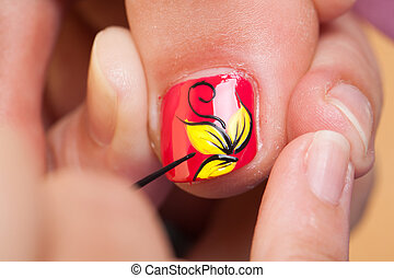 Pedicure procedure - Professional pedicure beauty procedure....