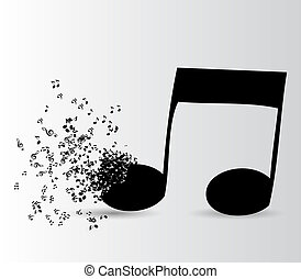 Abstract music background vector illustration for your...