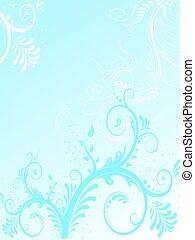 Teal floral design