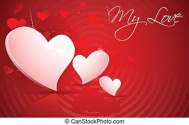 Shiny Valentine Heart - illustration of shiny Valentine...