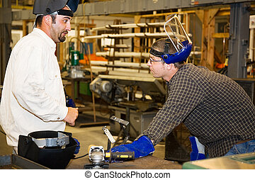 Metal Worker and Supervisor - A machinist in a factory...