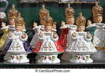 The Infant Jesus of Prague - Some statues of the Infant...
