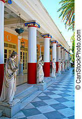 Statues in Achillion palace - Achillion palace in Corfu...