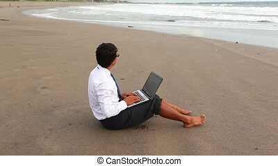 businessman on vacations