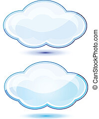 Glossy clouds vector stocks - Glossy perfect clouds vector...