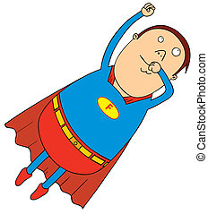 flying fat super hero
