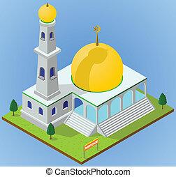 isometric mosque