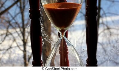 Hourglass - an ancient device for measuring time