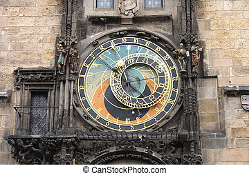 prague clock - nice historical clock on the Prague Tower
