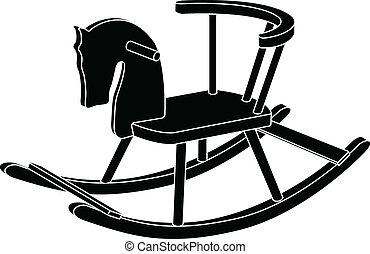 rocking horse toy. stencil